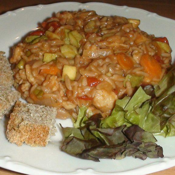 Γιουβέτσι με κριθαράκι ζέας και κομμάτια σόγιας, του Ζαννή Ζουγανέλη