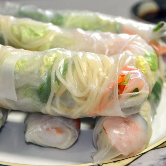 Spring Rolls χωρίς τηγάνισμα με λαχανικά, ένα ελαφρύ γεύμα