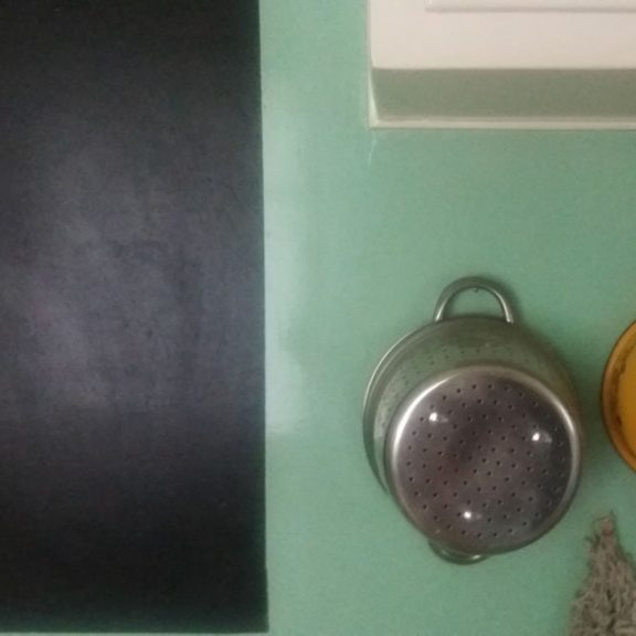 Ο …ψυχοθεραπευτικός μαυροπίνακας με το μενού της εβδομάδας