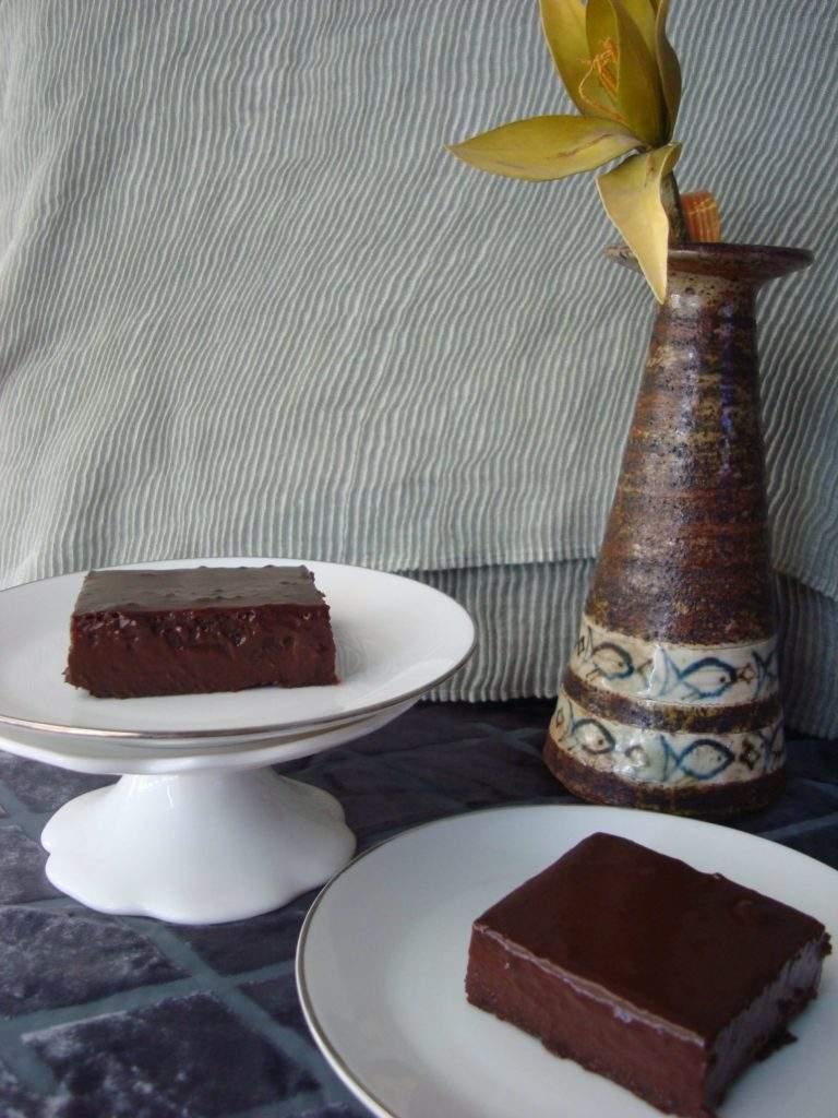 Σοκολατένιο ψητό γλυκό χωρίς αυγά, της Μαρίας Πατσιά