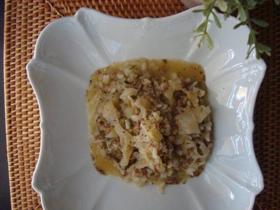 Λαχανόρυζο βουτυράτο και λεμονάτο με κιμά, της Μαρίας Πατσιά