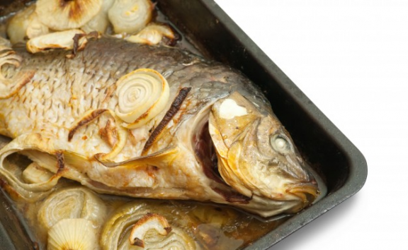 Fish with leek and  fennel