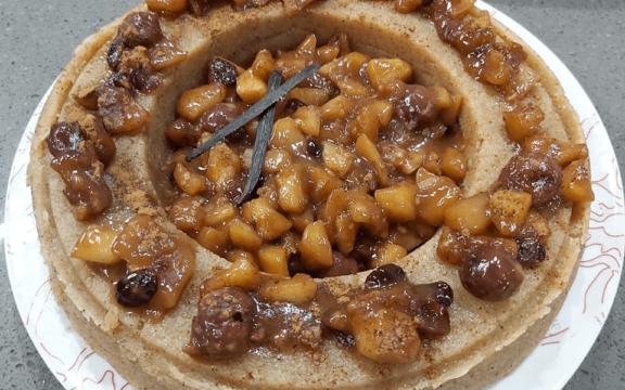 Χαλβάς σιμιγδαλένιος με κρέμα μήλου/κερασιού, από την Helena's Greek Cooking